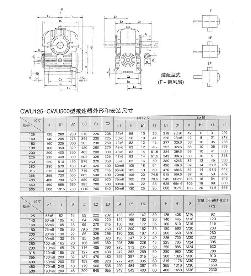聪颖CWU125蜗轮蜗杆减速机
